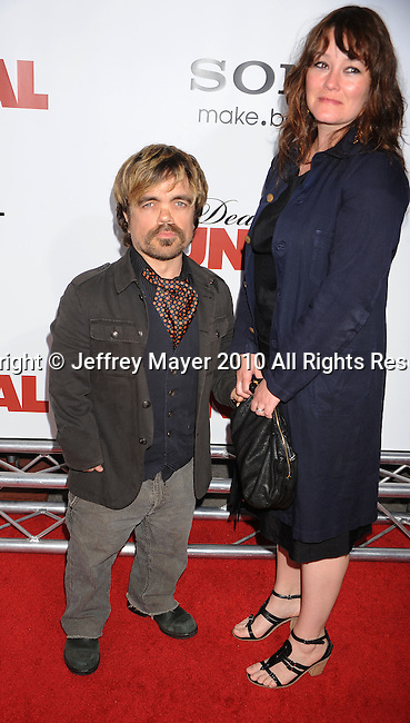 "HOLLYWOOD, CA. - April 12: Peter Dinklage arrives to the ""Death At A Funeral"" Los Angeles Premiere at Pacific's Cinerama Dome on April 12, 2010 in Hollywood, California."