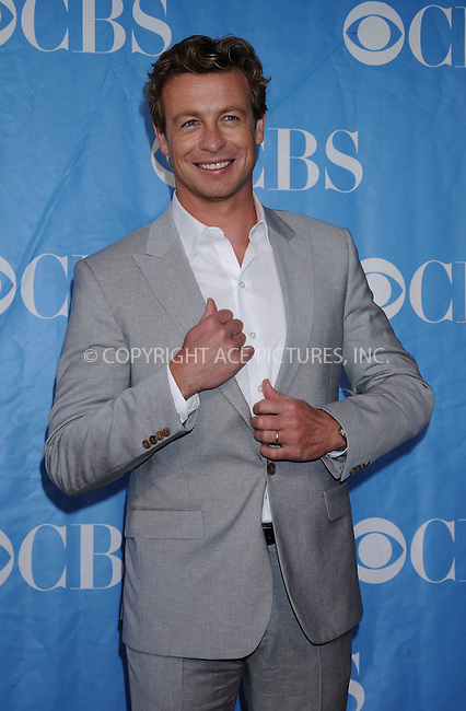 WWW.ACEPIXS.COM . . . . . ....May 20 2009, New York City....Actor Simon Baker at the 2009 CBS Upfront at Terminal 5 in Manhattan on May 20, 2009 in New York City.....Please byline: AJ SOKALNER - ACEPIXS.COM.. . . . . . ..Ace Pictures, Inc:  ..tel: (212) 243 8787 or (646) 769 0430..e-mail: info@acepixs.com..web: http://www.acepixs.com