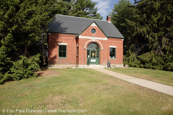 Langdon Library  in the historical district of Newington, New Hampshire USA. This historical building is located next to the oldest town forest in the United States