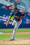 28 February 2017: Houston Astros pitcher Jandel Gustave on the mound during the Spring Training inaugural game against the Washington Nationals at the Ballpark of the Palm Beaches in West Palm Beach, Florida. The Nationals defeated the Astros 4-3 in Grapefruit League play. Mandatory Credit: Ed Wolfstein Photo *** RAW (NEF) Image File Available ***