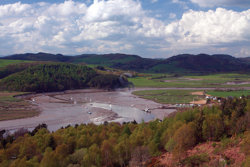 Kippford and the Rough Firth from The Muckle (Mark Hill), Dumfries and Galloway