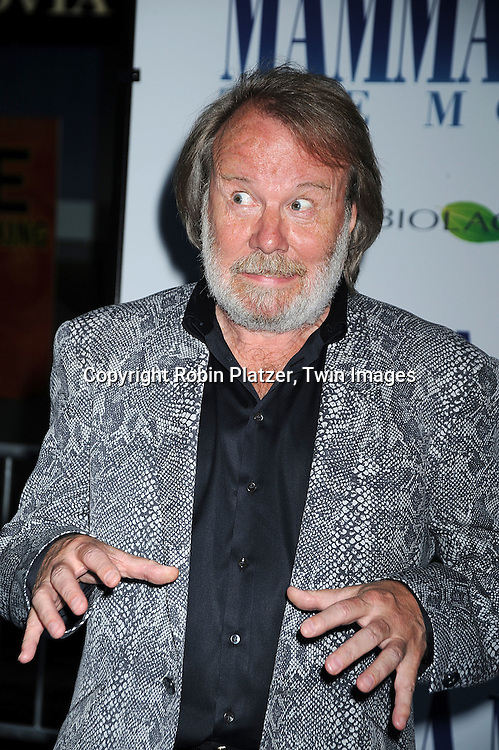 "Benny Andersson..posing for photographers at The American Premiere of ""Mamma Mia! The Movie on July 16, 2008 at The ..Ziegfeld Theatre in New York City. ....Robin Platzer, Twin Images"