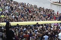 London, GREAT BRITAIN,  Oxford,  carry their boat out from the boathouse before the start of the  2007 Boat Race between Putney to Mortlake, on  Sat. April 7th. England [Photo Patrick White/Intersport Images] Varsity Boat Race, Rowing Course: River Thames, Championship course, Putney to Mortlake 4.25 Miles,