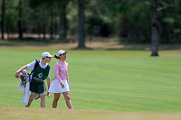 Alice Chen (USA) on the 9th during the second round of the Augusta National Womans Amateur 2019, Champions Retreat, Augusta, Georgia, USA. 04/04/2019.<br /> Picture Fran Caffrey / Golffile.ie<br /> <br /> All photo usage must carry mandatory copyright credit (&copy; Golffile | Fran Caffrey)
