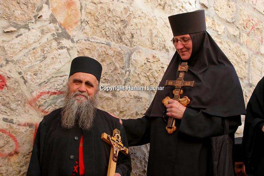 Israel, Jerusalem Old City, Good Friday at the Via Dolorosa,  Easter 2005<br />