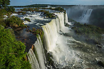 Iguazu Falls National Park in Brazil in the foreground and Argentina behind.  A UNESCO World Heritage Site.  Pictured is the Santa Maria Waterfall in front and Salto Mitre across the river in Argentina