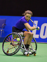 December 18, 2014, Rotterdam, Topsport Centrum, Lotto NK Tennis, Wheelchair quarter finals, Marjolein Buis   <br /> Photo: Tennisimages/Henk Koster