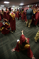 NWA Democrat-Gazette/ANDY SHUPE<br /> Wednesday, May 15, 2019, before the start of the school's commencement exercises in Barnhill Arena on the University of Arkansas campus in Fayetteville. The school graduated about 170 seniors during the ceremony.