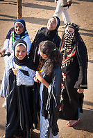 Girls from a arab Country heading for the celebration. Photo: André Jörg/ Scouterna