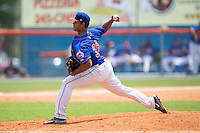 Kingsport Mets starting pitcher Darwin Ramos (38) delivers a pitch to the plate against the Greeneville Astros at Hunter Wright Stadium on July 7, 2015 in Kingsport, Tennessee.  The Mets defeated the Astros 6-4. (Brian Westerholt/Four Seam Images)