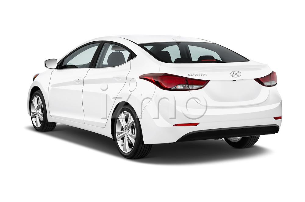Car pictures of rear three quarter view of 2016 Hyundai Elantra Value Edition 4 Door Sedan Angular Rear