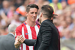 Fernando Torres (L)  of Atletico de Madrid reacts with Coach Diego Simeone (R) of Atletico de Madrid during their La Liga match between Atletico de Madrid vs Athletic de Bilbao at the Estadio Vicente Calderon on 21 May 2017 in Madrid, Spain. Photo by Diego Gonzalez Souto / Power Sport Images