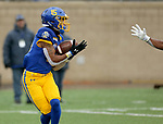 SIOUX FALLS, SD - NOVEMBER 3: Cade Johnson #15 from South Dakota State hauls in a touchdown pass against Missouri State during their game Saturday afternoon at Dana J. Dykhouse Stadium in Brookings. (Photo by Dave Eggen/Inertia)