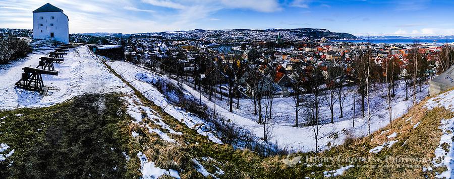 Norway, Sør-Trøndelag, Trondheim. View from Kristiansten fortress.