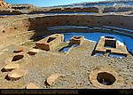 Great Kiva, Chetro Ketl Chacoan Great House, Anasazi Hisatsinom Ancestral Pueblo Site, Chaco Culture National Historical Park, Chaco Canyon, Nageezi, New Mexico