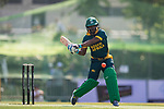 Ferisco Adams of South Africa hits a shot during Day 1 of Hong Kong Cricket World Sixes 2017 Group A match between South Africa vs Pakistan at Kowloon Cricket Club on 28 October 2017, in Hong Kong, China. Photo by Yu Chun Christopher Wong / Power Sport Images