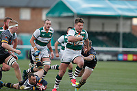 Harry Sloan of Ealing Trailfinders makes a break for the line during the Championship Cup Quarter Final match between Ealing Trailfinders and Nottingham Rugby at Castle Bar , West Ealing , England  on 2 February 2019. Photo by Carlton Myrie / PRiME Media Images.