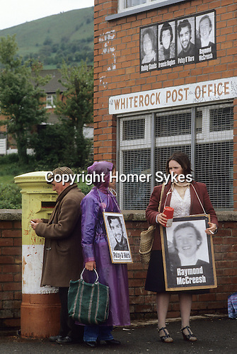 Hunger strike protest at WhiteRock for the H block demonstration Belfast Northern  Ireland 1981 The Troubles.