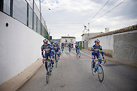 Pro Cycling Team Wanty-Groupe Gobert pre-season Training Camp (january 2016) with Kenny De Haes (BEL/Wanty-Groupe Gobert) & Antoine Demoitié (BEL/Wanty-Groupe Gobert) leading the way