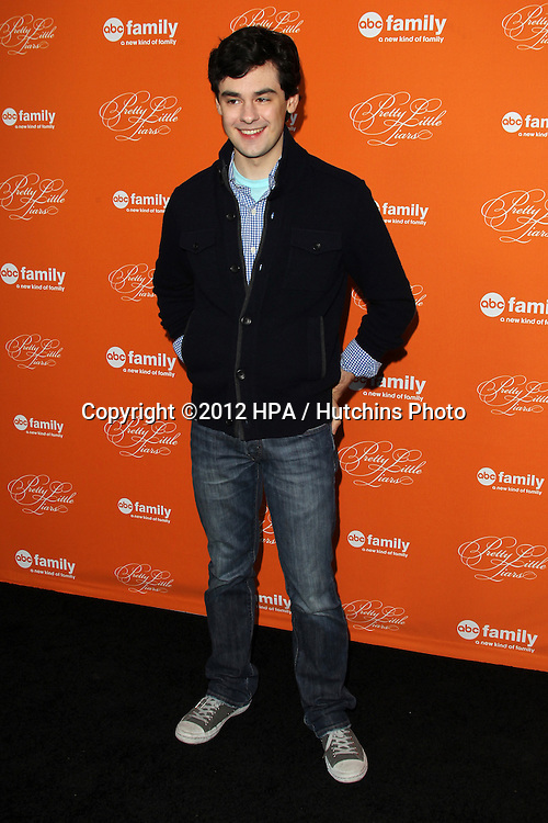 """LOS ANGELES - OCT 16:  Brendan Robinson arrives at  """"Pretty Little Liars"""" Special Halloween Episode Screening at Hollywood Forever Cemetery on October 16, 2012 in Los Angeles, CA"""