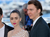 Paul Dano &amp; Lily Collins at the photocall for &quot;Okja&quot; at the 70th Festival de Cannes, Cannes, France. 19 May 2017<br /> Picture: Paul Smith/Featureflash/SilverHub 0208 004 5359 sales@silverhubmedia.com