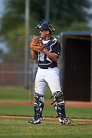 Seattle Mariners Juan Camacho (30) during an instructional league intrasquad game on October 6, 2015 at the Peoria Sports Complex in Peoria, Arizona.  (Mike Janes/Four Seam Images)