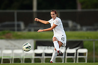 Washington Spirit midfielder Holly King (20). Sky Blue FC defeated the Washington Spirit 1-0 during a National Women's Soccer League (NWSL) match at Yurcak Field in Piscataway, NJ, on August 3, 2013.