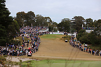 The 3rd during the Second Round - Foursomes of the Presidents Cup 2019, Royal Melbourne Golf Club, Melbourne, Victoria, Australia. 13/12/2019.<br /> Picture Thos Caffrey / Golffile.ie<br /> <br /> All photo usage must carry mandatory copyright credit (© Golffile | Thos Caffrey)