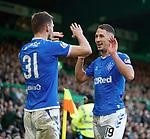 29.12.2019 Celtic v Rangers: Nikola Katic celebrates his goal for Rangers with Borna Barisic
