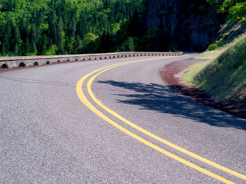 Road in Columbia River Gorge National Scenic Area, Oregon