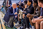 18 December 2018: St. Bonaventure University Bonnies Head Coach Mark Schmidt gives instruction to his team during a game against the University of Vermont Catamounts at Patrick Gymnasium in Burlington, Vermont. The Catamounts defeated the Bonnies 83-76 in a double-overtime NCAA DI game. Mandatory Credit: Ed Wolfstein Photo *** RAW (NEF) Image File Available ***