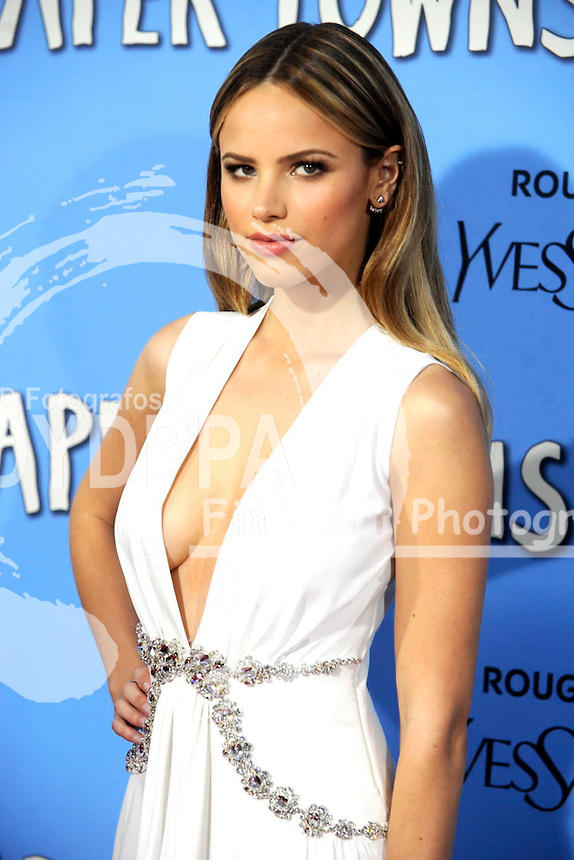 Halston Sage attending the 'Paper Towns' premiere at AMC Loews Lincoln Square on July 21, 2015 in New York Cit
