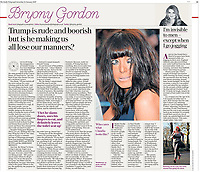 Cutting, tear sheet, tear sheet The Daily Telegraph, Claudia Winkleman