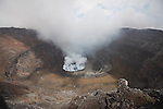 Nyiragongo Volcano, Democratic Republic of Congo, Summit Crater