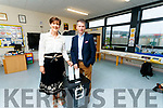 Norma Foley pictured with her husband Denis McGuire, voting at Blennerville National School on Friday last.