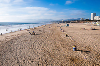 United States, California, Santa Monica. Santa Monica is a beachfront city in western Los Angeles County. The beach from Santa Monica Pier.