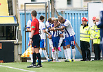 Kilmarnock v St Johnstone...19.09.15  SPFL Rugby Park, Kilmarnock<br /> Rory McKenzie celebrates after his deflected cross beats Alan Mannus<br /> Picture by Graeme Hart.<br /> Copyright Perthshire Picture Agency<br /> Tel: 01738 623350  Mobile: 07990 594431