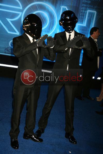 "Thomas Bangalter and Guy-Manuel de<br /> at the ""TRON: Legacy"" Los Angeles Premiere, El Capitan, Hollywood, CA. 12-11-10<br /> David Edwards/DailyCeleb.com 818-249-4998"