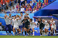 LYON, FRANCE - JULY 07: United States  during the 2019 FIFA Women's World Cup France final match between the Netherlands and the United States at Stade de Lyon on July 07, 2019 in Lyon, France.