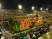 Imperatriz Leopolinense Samba School, Carnival, Rio de Janeiro, Brazil, 26th February 2017. Alto Xingu 'Kuarup' float in the Sambadrome.