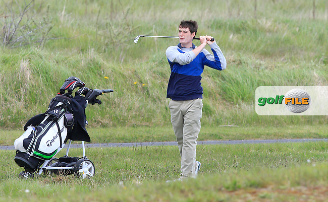 Dermot McElroy (Ballymena) on the 13th fairway during Round 3 of the Irish Amateur Open Championship at Royal Dublin on Saturday 9th May 2015.<br /> Picture:  Thos Caffrey / www.golffile.ie