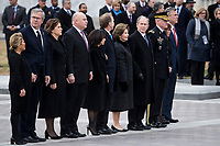 Members of the Bush family are seen outside on the East Front of the Capitol before the remains of President George H.W. Bush are transported from the U.S. Capitol to the National Cathedral Wednesday December 5, 2018.<br /> Credit: Sarah Silbiger / Pool via CNP / MediaPunch