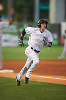 Tampa Yankees Zack Zehner (36) running the bases during a game against the Dunedin Blue Jays on April 19, 2016 at George M. Steinbrenner Field in Tampa, Florida.  Tampa defeated Dunedin 12-7.  (Mike Janes/Four Seam Images)