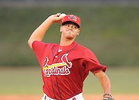 August 1, 2009: RHP Travis Lawler (25) of the Johnson City Cardinals, rookie Appalachian League affiliate of the St. Louis Cardinals, in a game at Howard Johnson Field in Johnson City, Tenn. Photo by: Tom Priddy/Four Seam
