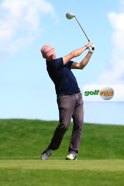 Richard Creamer (Golfquip) on the 13th tee during the Johnston Mooney &amp; O'Brien PGA Challenge Round 1 at Carton House Golf Club  7th August 2013 <br /> Picture:  Thos Caffrey / www.golffile.ie