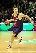 7th January 2018, San Pablo Sports Municipal Palace, Seville, Spain; Endesa League Basketball, Real Betis Energia Plus versus FC Barcelona Lassa; Koponen from Barcelona Lassa brings the ball foward