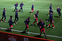 Stevenage players warm up during Stevenage vs Brighton & Hove Albion Under-21, Checkatrade Trophy Football at the Lamex Stadium on 7th November 2017