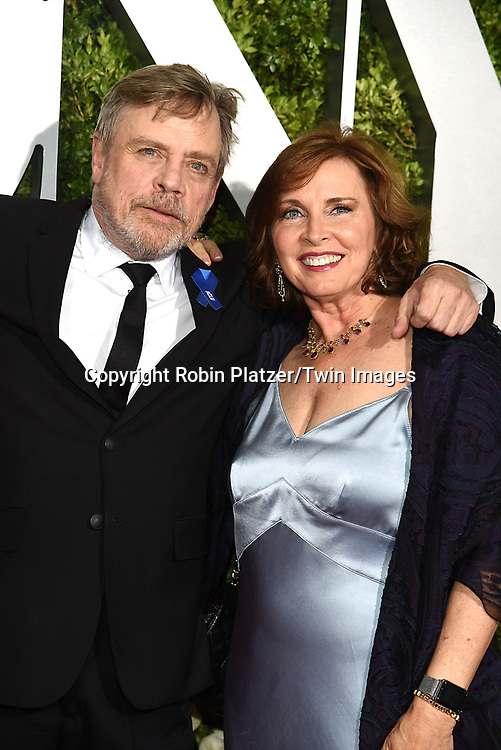 Mark Hamill and wife Marilou York attend the 71st Annual  Tony Awards on June 11, 2017 at Radio City Music Hall in New York, New York, USA.<br /> <br /> photo by Robin Platzer/Twin Images<br />  <br /> phone number 212-935-0770