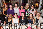 Alice Conway from Farmers Bridge, Tralee celebrating her 30th Birthday with Friends at the Stonehouse Restaurant on Saturday Night.  Front l-r Maggie Carlin, Margaret O'Connor, Alice Conway, Trisha King, Rachel O'Mahony.  Back l-r Annmarie Tritschler, Breda Horan, Siobhan O'Donoghue, Sari Abraham, Lisa Vahey, Rose Daly