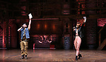 """Syndee Winters and Roddy Kennedy performing before The Rockefeller Foundation and The Gilder Lehrman Institute of American History sponsored High School student #EduHam matinee performance of """"Hamilton"""" at the Richard Rodgers Theatre on 3/15/2017 in New York City."""